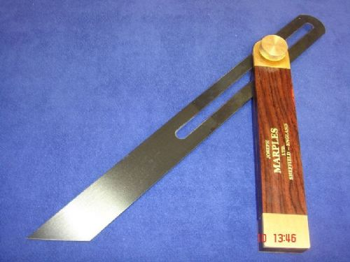 "Joseph Marples Rosewood Carpenters Sliding Bevel 265mm 10.1/2"" Brass 20F"